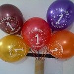 Balon Printing Happy Birthday 1 St